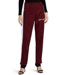 Palm Angels - Logo-flocked Tech-jersey Track Pants - Lyst