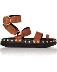 Isabel Marant - Nirvy Studded Leather Platform Sandals - Lyst