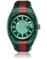 Gucci - Sync Web Striped Watch - Lyst