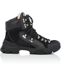 Gucci - Mixed-material Hiker Boots - Lyst