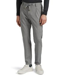 Eleventy Worsted Wool Drawstring Pants - Gray