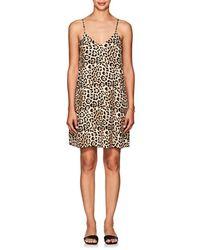 ATM - Silk Leopard Camisole Dress - Lyst
