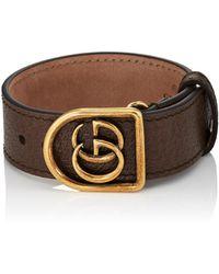 Gucci - Marmont Leather Bracelet - Lyst