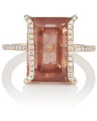 Monique Péan - Sunstone & White Diamond Ring - Lyst