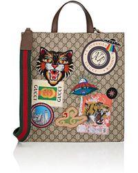 5abf18cbcea Lyst - Gucci Ouroboros-print Cotton Tote Bag in Natural for Men