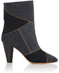 Isabel Marant - Darilay Twill Patchwork Ankle Boots - Lyst
