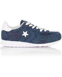 Lyst - Converse All Star Low-top Leather Trainers in Blue for Men d15801b0c