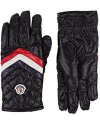 Moncler - Striped Quilted Shell Gloves - Lyst