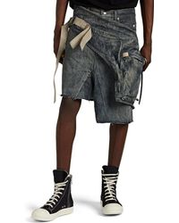 Rick Owens - Denim Cargo Skirt - Lyst
