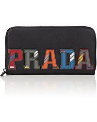 Prada - Logo Continental Wallet - Lyst