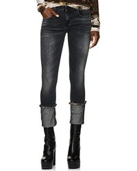 R13 - Kate Mid-rise Cuffed Skinny Jeans - Lyst
