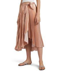 A.L.C. Eleanor Metplissé Midi-skirt - Pink
