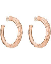 Pamela Love - Wavy Hoop Earrings - Lyst
