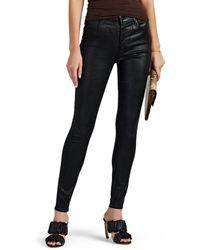 J Brand - Maria Coated High-rise Skinny Jeans - Lyst
