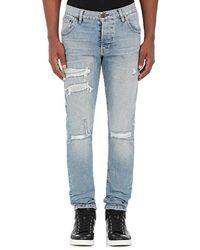 En Noir - Distressed Skinny Jeans - Lyst