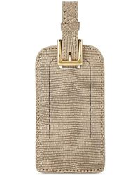 Barneys New York Lizard-stamped Luggage Tag - Brown