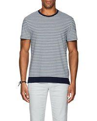 Orlebar Brown - Sammy Striped Cotton-linen T-shirt - Lyst
