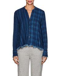 Greg Lauren - Checked Cotton Flannel Studio Shirt - Lyst
