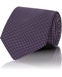 Ralph Lauren Purple Label - Checked Silk Necktie - Lyst