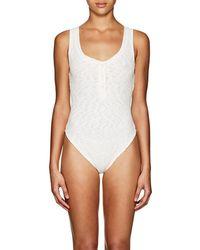 Onia - Jenny Ribbed Sleeveless Bodysuit - Lyst