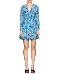 Saloni - Eve Floral Silk Minidress - Lyst