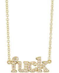 Jennifer Meyer - White Diamond Pendant Necklace - Lyst