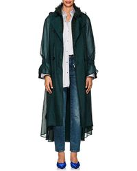 Sacai - Layered Checked Voile & Tweed Trench Coat - Lyst