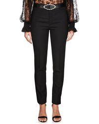 Saint Laurent - Virgin Wool Tailored Trousers - Lyst