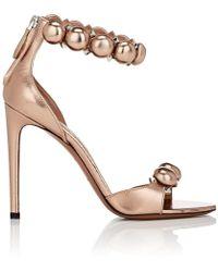 Alaïa - Metallic Leather Ankle - Lyst