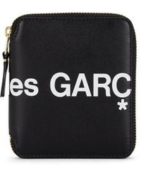Comme des Garçons Logo-print Leather Zip-around Wallet - Black