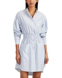 Cedric Charlier - Striped Cotton End-on-end Shirtdress - Lyst