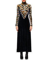 Proenza Schouler - Tie-dyed Velvet Maxi Dress - Lyst