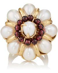 Goossens Paris - Baroque Pearl & Garnet Ring - Lyst