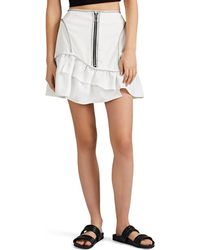 Opening Ceremony - Topstitched Canvas Miniskirt - Lyst