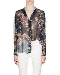 Isabel Marant - Daws Dragon-print Silk Blouse - Lyst