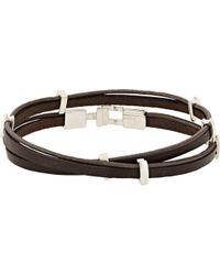 Zadeh Eitan Wrap Bracelet - Brown