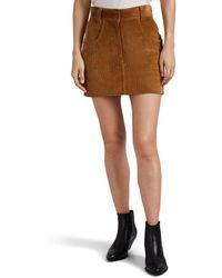 RE/DONE - 90s Western Corduroy Mini Skirt - Lyst