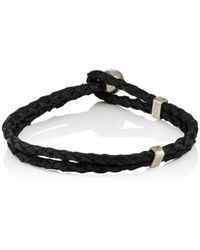 Title Of Work - Braided Leather Bracelet - Lyst