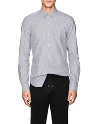 Paul Smith - Embroidered Striped Cotton Poplin Shirt - Lyst
