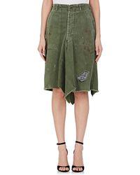 Icons - Cotton Rip & Repair Skirt - Lyst