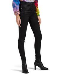 J Brand Natasha Sky-high Skinny Jeans - Black