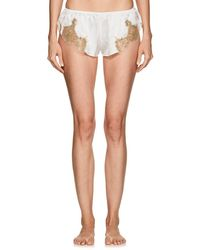 Gilda & Pearl - Gina Lace-trimmed Silk Shorts - Lyst