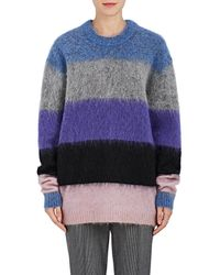 Acne Studios - Albah Striped Mohair - Lyst