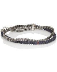 Title Of Work - Sterling Silver & Mixed-gemstone Double-wrap Bracelet - Lyst