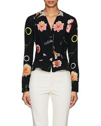 Narciso Rodriguez - Floral Silk Blouse - Lyst