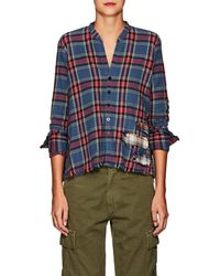 Greg Lauren - Christian Plaid Cotton Studio Shirt - Lyst