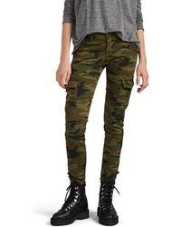 NSF The Vincent Camouflage-print Cotton-blend Cargo Pants - Green
