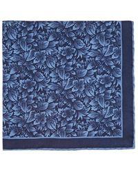 Paolo Albizzati - Floral Silk Pocket Square - Lyst