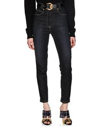 Versace - High-rise Tapered Jeans - Lyst