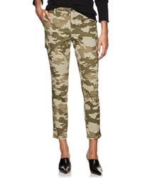 ATM - Camouflage Cotton Slim Cargo Trousers - Lyst
